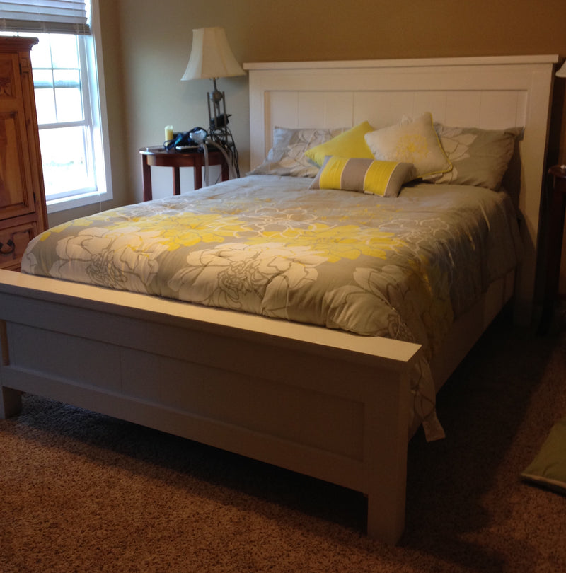 Custom Built-to-Order Rustic Farmhouse Bed - Queen Size - Hawkins Woodshop