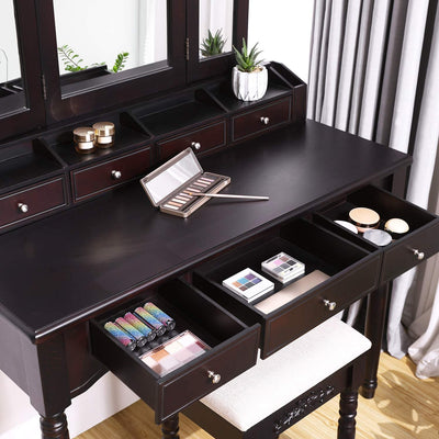 Enjoy fast, free nationwide shipping!  Family owned and operated, HawkinsWoodshop.com is your one stop shop for affordable furniture.  Shop HawkinsWoodshop.com for solid wood & metal modern, traditional, contemporary, industrial, custom, rustic, and farmhouse furniture including our Tri Folded Mirror Vanity Set.