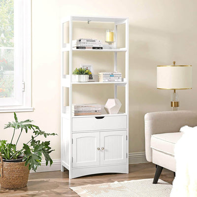 Enjoy fast, free nationwide shipping!  Family owned and operated, HawkinsWoodshop.com is your one stop shop for affordable furniture.  Shop HawkinsWoodshop.com for solid wood & metal modern, traditional, contemporary, industrial, custom, rustic, and farmhouse furniture including our 3 Open Shelves Freestanding Linen Tower Cabinet.