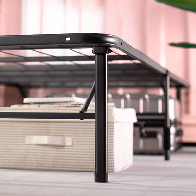 Black Zero Assembly Bed Frame in Twin Size