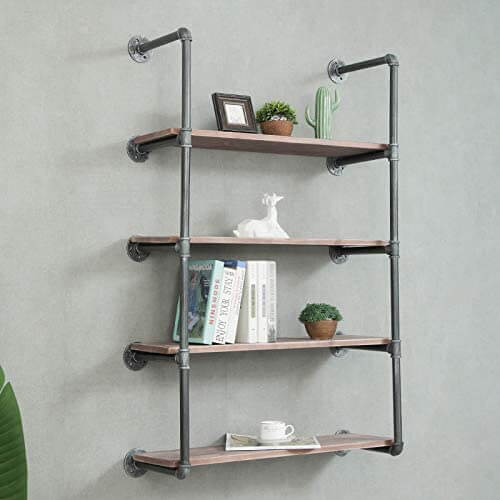 Enjoy fast, free nationwide shipping!  Owned by a husband and wife team of high-school music teachers, HawkinsWoodshop.com is your one stop shop for affordable furniture.  Shop HawkinsWoodshop.com for solid wood & metal modern, traditional, contemporary, industrial, custom, rustic, and farmhouse furniture including our 4 Tier Retro Pipe Shelving Hardware & Shelves.
