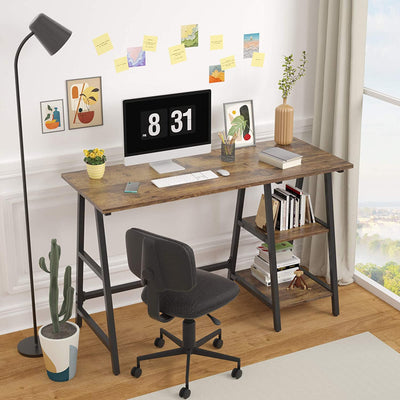 Enjoy fast, free nationwide shipping!  Owned by a husband and wife team of high-school music teachers, HawkinsWoodshop.com is your one stop shop for affordable furniture.  Shop HawkinsWoodshop.com for solid wood & metal modern, traditional, contemporary, industrial, custom, rustic, and farmhouse furniture including our Rustic Brown Trestle Computer Desk.