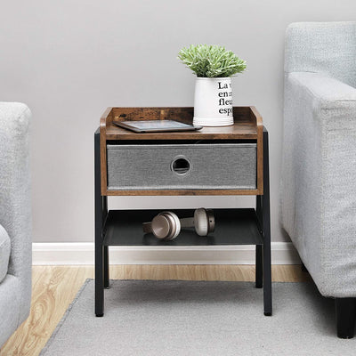 Enjoy fast, free nationwide shipping!  Family owned and operated, HawkinsWoodshop.com is your one stop shop for affordable furniture.  Shop HawkinsWoodshop.com for solid wood & metal modern, traditional, contemporary, industrial, custom, rustic, and farmhouse furniture including our Ryan Fabric Drawer End Table with Metal Shelf.