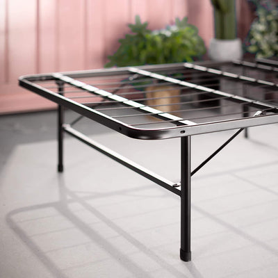 Black Zero Assembly Bed Frame in Narrow Twin Size