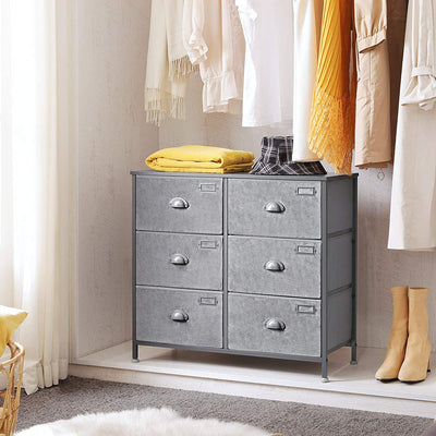 Enjoy fast, free nationwide shipping!  Family owned and operated, HawkinsWoodshop.com is your one stop shop for affordable furniture.  Shop HawkinsWoodshop.com for solid wood & metal modern, traditional, contemporary, industrial, custom, rustic, and farmhouse furniture including our 6 Drawers Gray Fabric Dresser.