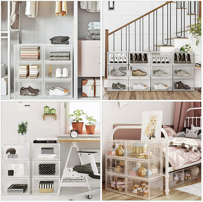 Enjoy fast, free nationwide shipping!  Family owned and operated, HawkinsWoodshop.com is your one stop shop for affordable furniture.  Shop HawkinsWoodshop.com for solid wood & metal modern, traditional, contemporary, industrial, custom, rustic, and farmhouse furniture including our 6 Stackable Transparent Shoe Organizers.