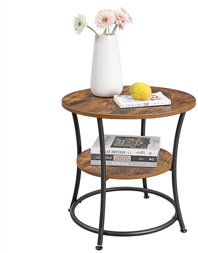 Enjoy fast, free nationwide shipping!  Family owned and operated, HawkinsWoodshop.com is your one stop shop for affordable furniture.  Shop HawkinsWoodshop.com for solid wood & metal modern, traditional, contemporary, industrial, custom, rustic, and farmhouse furniture including our Ryan 2 Layers Round End Table.