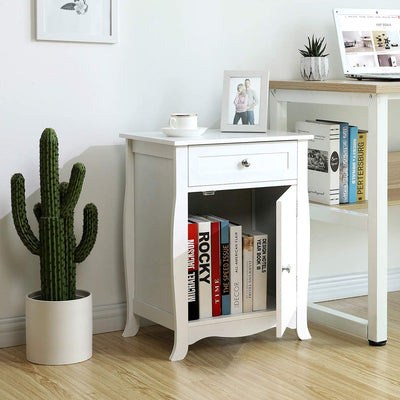 Enjoy fast, free nationwide shipping!  Family owned and operated, HawkinsWoodshop.com is your one stop shop for affordable furniture.  Shop HawkinsWoodshop.com for solid wood & metal modern, traditional, contemporary, industrial, custom, rustic, and farmhouse furniture including our White Wooden Nightstand with Storage Cabinet.