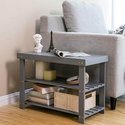 Enjoy fast, free nationwide shipping!  Family owned and operated, HawkinsWoodshop.com is your one stop shop for affordable furniture.  Shop HawkinsWoodshop.com for solid wood & metal modern, traditional, contemporary, industrial, custom, rustic, and farmhouse furniture including our 3-Tier Shoe Rack Grey Bench.