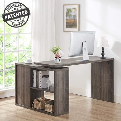 Enjoy fast, free nationwide shipping!  Owned by a husband and wife team of high-school music teachers, HawkinsWoodshop.com is your one stop shop for affordable furniture.  Shop HawkinsWoodshop.com for solid wood & metal modern, traditional, contemporary, industrial, custom, rustic, and farmhouse furniture including our Grey L Shaped Computer Desk.