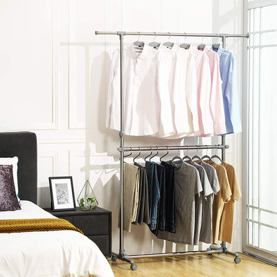 Enjoy fast, free nationwide shipping!  Family owned and operated, HawkinsWoodshop.com is your one stop shop for affordable furniture.  Shop HawkinsWoodshop.com for solid wood & metal modern, traditional, contemporary, industrial, custom, rustic, and farmhouse furniture including our Movable Double Rod Clothes Rack.