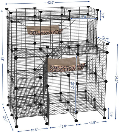 Enjoy fast, free nationwide shipping!  Family owned and operated, HawkinsWoodshop.com is your one stop shop for affordable furniture.  Shop HawkinsWoodshop.com for solid wood & metal modern, traditional, contemporary, industrial, custom, rustic, and farmhouse furniture including our Multi Tier Mansion Cat Playpen in Black.