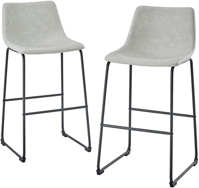 Enjoy fast, free nationwide shipping!  Owned by a husband and wife team of high-school music teachers, HawkinsWoodshop.com is your one stop shop for affordable furniture.  Shop HawkinsWoodshop.com for solid wood & metal modern, traditional, contemporary, industrial, custom, rustic, and farmhouse furniture including our Gray Faux Leather Upholstered Barstool, Set of 2.