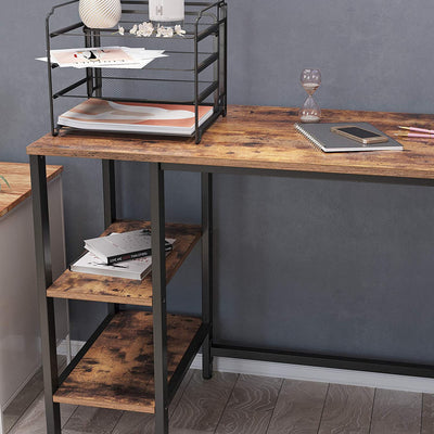 Enjoy fast, free nationwide shipping!  Family owned and operated, HawkinsWoodshop.com is your one stop shop for affordable furniture.  Shop HawkinsWoodshop.com for solid wood & metal modern, traditional, contemporary, industrial, custom, rustic, and farmhouse furniture including our Ryan 4 Shelves L-Shaped Computer Desk.