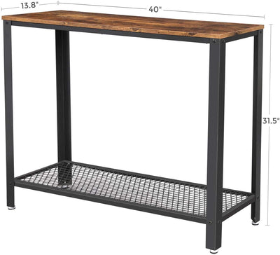 Enjoy fast, free nationwide shipping!  Family owned and operated, HawkinsWoodshop.com is your one stop shop for affordable furniture.  Shop HawkinsWoodshop.com for solid wood & metal modern, traditional, contemporary, industrial, custom, rustic, and farmhouse furniture including our Ryan Industrial Modern Console Table w/ Storage Shelf.