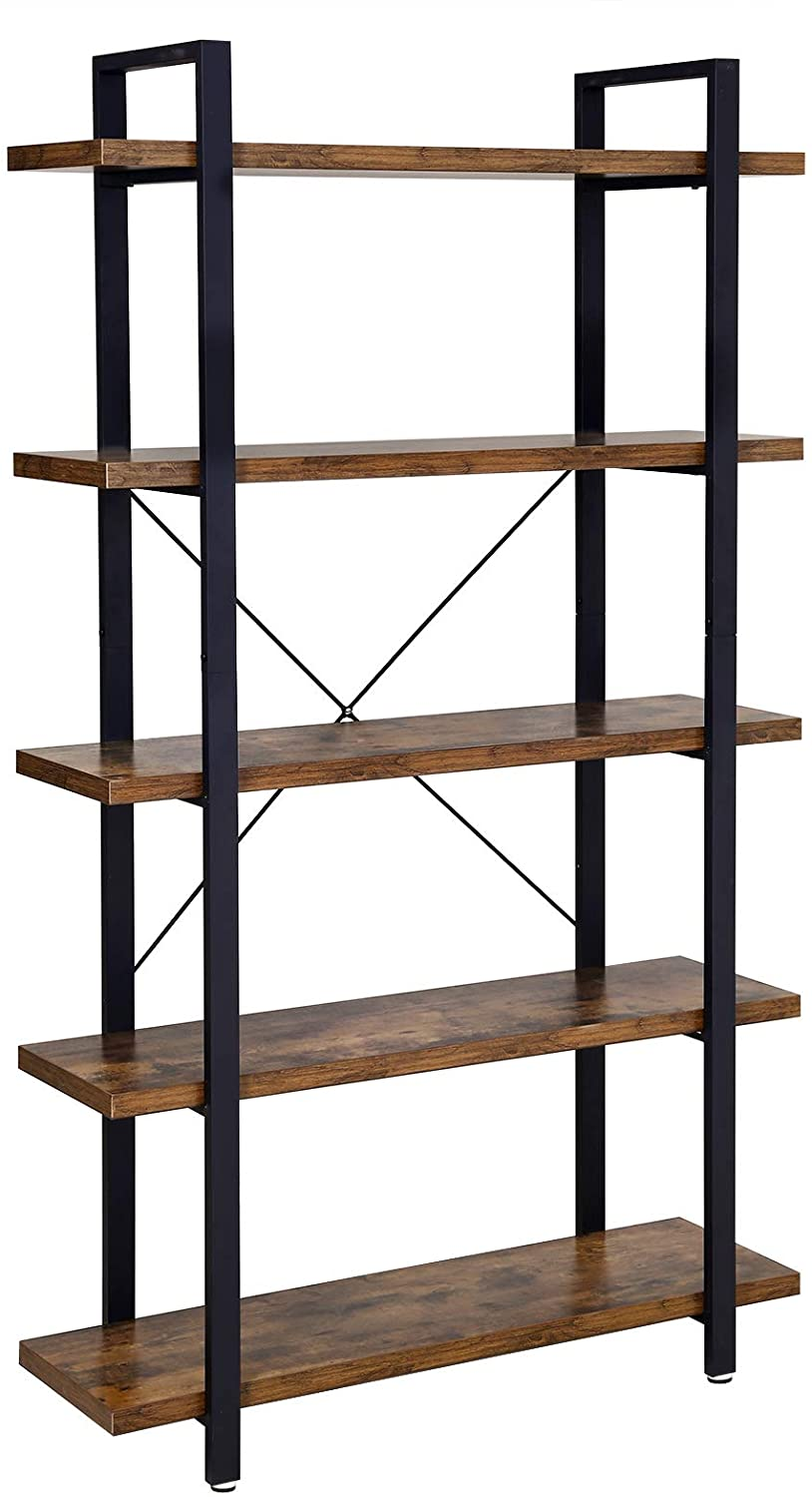 Enjoy fast, free nationwide shipping!  Owned by a husband and wife team of high-school music teachers, HawkinsWoodshop.com is your one stop shop for affordable furniture.  Shop HawkinsWoodshop.com for solid wood & metal modern, traditional, contemporary, industrial, custom, rustic, and farmhouse furniture including our 5 Tier Industrial Bookshelf.