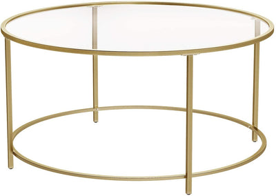 Enjoy fast, free nationwide shipping!  Family owned and operated, HawkinsWoodshop.com is your one stop shop for affordable furniture.  Shop HawkinsWoodshop.com for solid wood & metal modern, traditional, contemporary, industrial, custom, rustic, and farmhouse furniture including our Round Glass Gold Colored Coffee Table.
