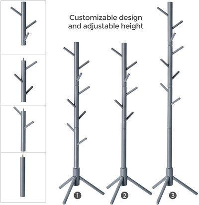 Enjoy fast, free nationwide shipping!  Family owned and operated, HawkinsWoodshop.com is your one stop shop for affordable furniture.  Shop HawkinsWoodshop.com for solid wood & metal modern, traditional, contemporary, industrial, custom, rustic, and farmhouse furniture including our Gray Wood Coat Rack Tree.