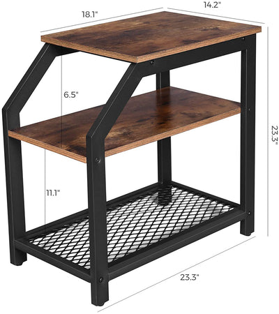 Enjoy fast, free nationwide shipping!  Family owned and operated, HawkinsWoodshop.com is your one stop shop for affordable furniture.  Shop HawkinsWoodshop.com for solid wood & metal modern, traditional, contemporary, industrial, custom, rustic, and farmhouse furniture including our Ryan 3-Tier Industrial Side Table with Storage Shelves.