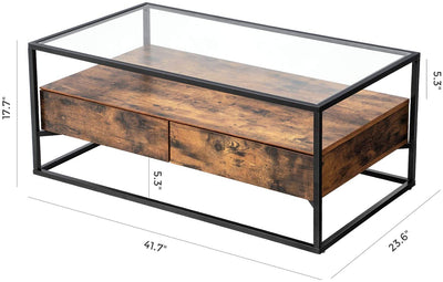 Ryan Glass-Top Coffee Table