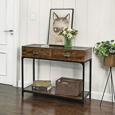 Shop hawkinswoodshop.com for solid wood & metal modern, traditional, contemporary, industrial, custom, rustic, and farmhouse furniture including our Industrial Console Table w/ Double Drawer.  Ask about our free nationwide delivery service.