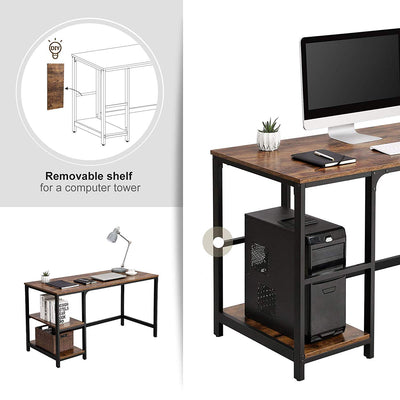 Enjoy fast, free nationwide shipping!  Family owned and operated, HawkinsWoodshop.com is your one stop shop for affordable furniture.  Shop HawkinsWoodshop.com for solid wood & metal modern, traditional, contemporary, industrial, custom, rustic, and farmhouse furniture including our Ryan Industrial Computer Desk w/ Adjustable Left or Right Shelves.