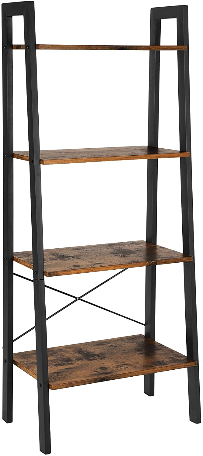 Enjoy fast, free nationwide shipping!  Owned by a husband and wife team of high-school music teachers, HawkinsWoodshop.com is your one stop shop for affordable furniture.  Shop HawkinsWoodshop.com for solid wood & metal modern, traditional, contemporary, industrial, custom, rustic, and farmhouse furniture including our Ryan Industrial Ladder 4-Tier Bookshelf.