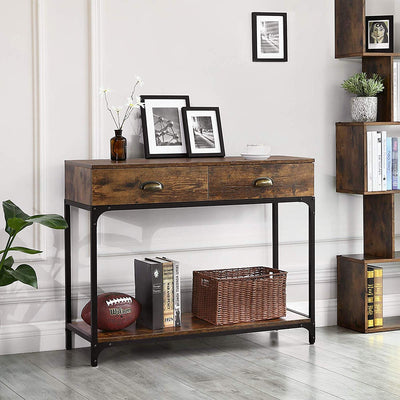 Enjoy fast, free nationwide shipping!  Family owned and operated, HawkinsWoodshop.com is your one stop shop for affordable furniture.  Shop HawkinsWoodshop.com for solid wood & metal modern, traditional, contemporary, industrial, custom, rustic, and farmhouse furniture including our Industrial Console Table w/ Double Drawer.