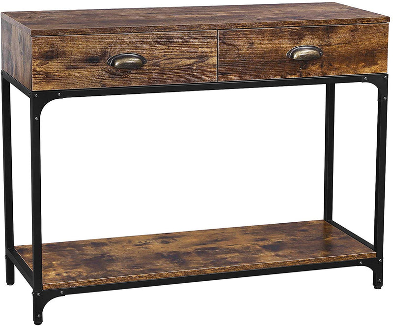 Enjoy fast, free nationwide shipping!  Owned by a husband and wife team of high-school music teachers, HawkinsWoodshop.com is your one stop shop for affordable furniture.  Shop HawkinsWoodshop.com for solid wood & metal modern, traditional, contemporary, industrial, custom, rustic, and farmhouse furniture including our Industrial Console Table w/ Double Drawer.