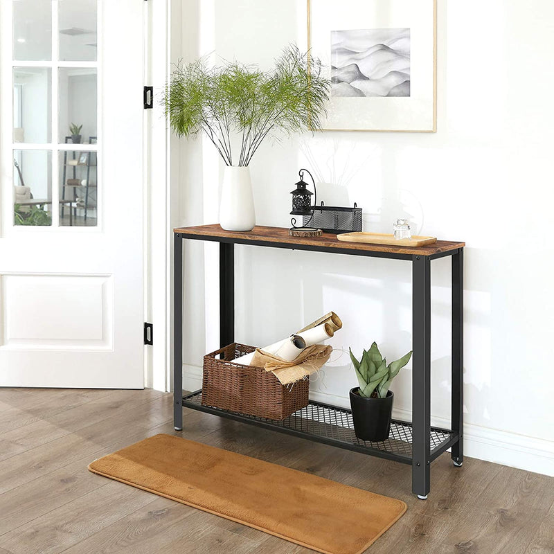 Enjoy fast, free nationwide shipping!  Owned by a husband and wife team of high-school music teachers, HawkinsWoodshop.com is your one stop shop for affordable furniture.  Shop HawkinsWoodshop.com for solid wood & metal modern, traditional, contemporary, industrial, custom, rustic, and farmhouse furniture including our Ryan Industrial Modern Console Table w/ Storage Shelf.