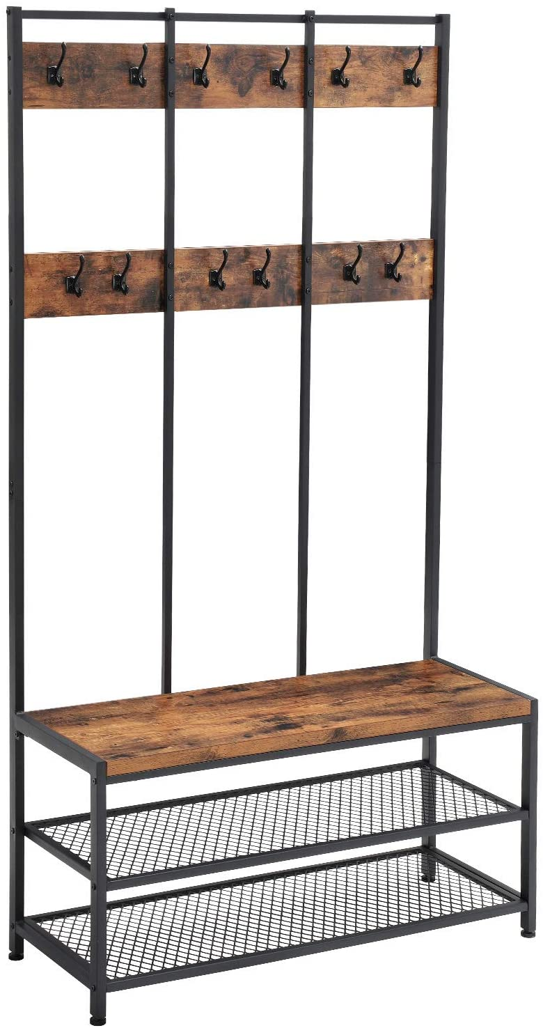 Enjoy fast, free nationwide shipping!  Family owned and operated, HawkinsWoodshop.com is your one stop shop for affordable furniture.  Shop HawkinsWoodshop.com for solid wood & metal modern, traditional, contemporary, industrial, custom, rustic, and farmhouse furniture including our Ryan Industrial Large 12 Hook Coat Rack Hall Tree.