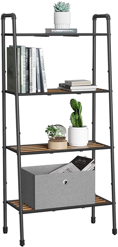 Ryan Steel Pipe & Wood Industrial Ladder Shelf