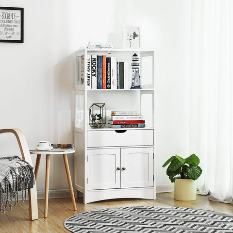 Shop hawkinswoodshop.com for solid wood & metal modern, traditional, contemporary, industrial, custom & farmhouse furniture including our Bathroom Storage Cabinet with Drawer, 2 Open Shelves and Door Cupboard.  Ask about our free nationwide freight delivery and low cost white glove assembly services.