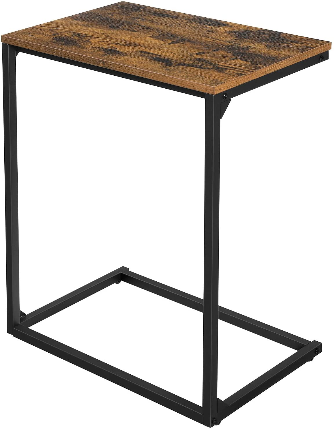 Enjoy fast, free nationwide shipping!  Owned by a husband and wife team of high-school music teachers, HawkinsWoodshop.com is your one stop shop for affordable furniture.  Shop HawkinsWoodshop.com for solid wood & metal modern, traditional, contemporary, industrial, custom, rustic, and farmhouse furniture including our Rustic Brown Simple Structure Side Table.