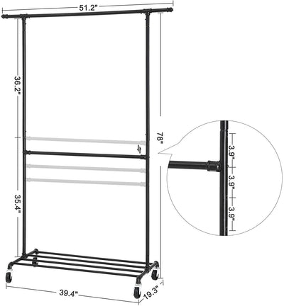 Enjoy fast, free nationwide shipping!  Family owned and operated, HawkinsWoodshop.com is your one stop shop for affordable furniture.  Shop HawkinsWoodshop.com for solid wood & metal modern, traditional, contemporary, industrial, custom, rustic, and farmhouse furniture including our Industrial Double Rod Garment Rack.