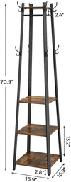 Enjoy fast, free nationwide shipping!  Family owned and operated, HawkinsWoodshop.com is your one stop shop for affordable furniture.  Shop HawkinsWoodshop.com for solid wood & metal modern, traditional, contemporary, industrial, custom, rustic, and farmhouse furniture including our Hall Tree 3 Shelves Standing Coat Rack.