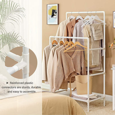Enjoy fast, free nationwide shipping!  Family owned and operated, HawkinsWoodshop.com is your one stop shop for affordable furniture.  Shop HawkinsWoodshop.com for solid wood & metal modern, traditional, contemporary, industrial, custom, rustic, and farmhouse furniture including our Double Rails Metal Clothes Rack.