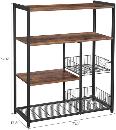 Enjoy fast, free nationwide shipping!  Owned by a husband and wife team of high-school music teachers, HawkinsWoodshop.com is your one stop shop for affordable furniture.  Shop HawkinsWoodshop.com for solid wood & metal modern, traditional, contemporary, industrial, custom, rustic, and farmhouse furniture including our Ryan Mesh Baskets Kitchen Shelf.