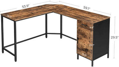 Enjoy fast, free nationwide shipping!  Owned by a husband and wife team of high-school music teachers, HawkinsWoodshop.com is your one stop shop for affordable furniture.  Shop HawkinsWoodshop.com for solid wood & metal modern, traditional, contemporary, industrial, custom, rustic, and farmhouse furniture including our Ryan L-Shaped Corner Desk with Cupboard.