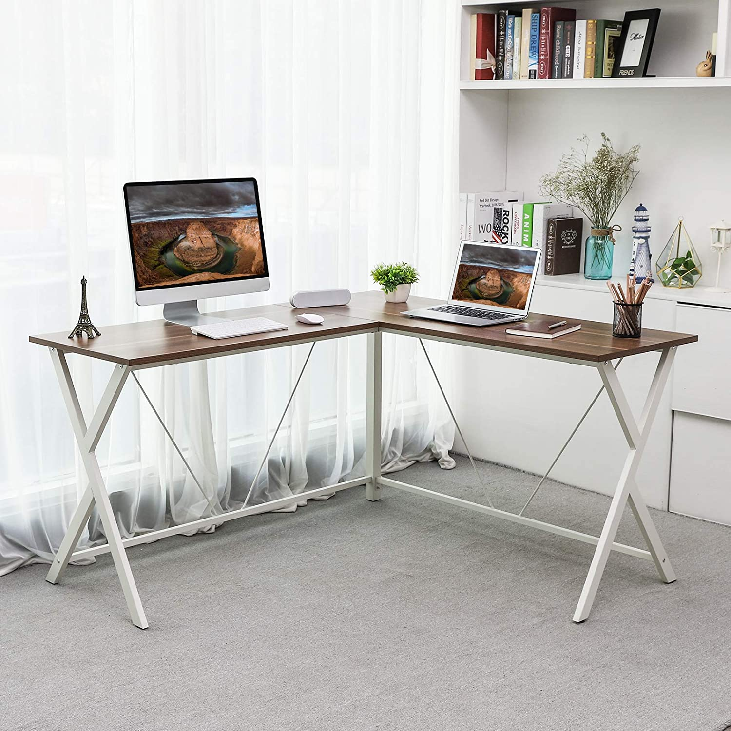 Shop hawkinswoodshop.com for discounted solid wood & metal modern, traditional, contemporary, custom & farmhouse furniture including our Ryan White Metal Base L-Shaped Wood Desk. Ask about our free nationwide freight delivery or assembly services today.
