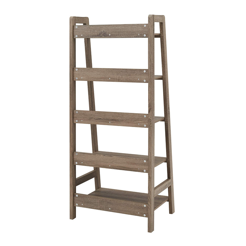Gray Wash Tracey Ladder Bookcase