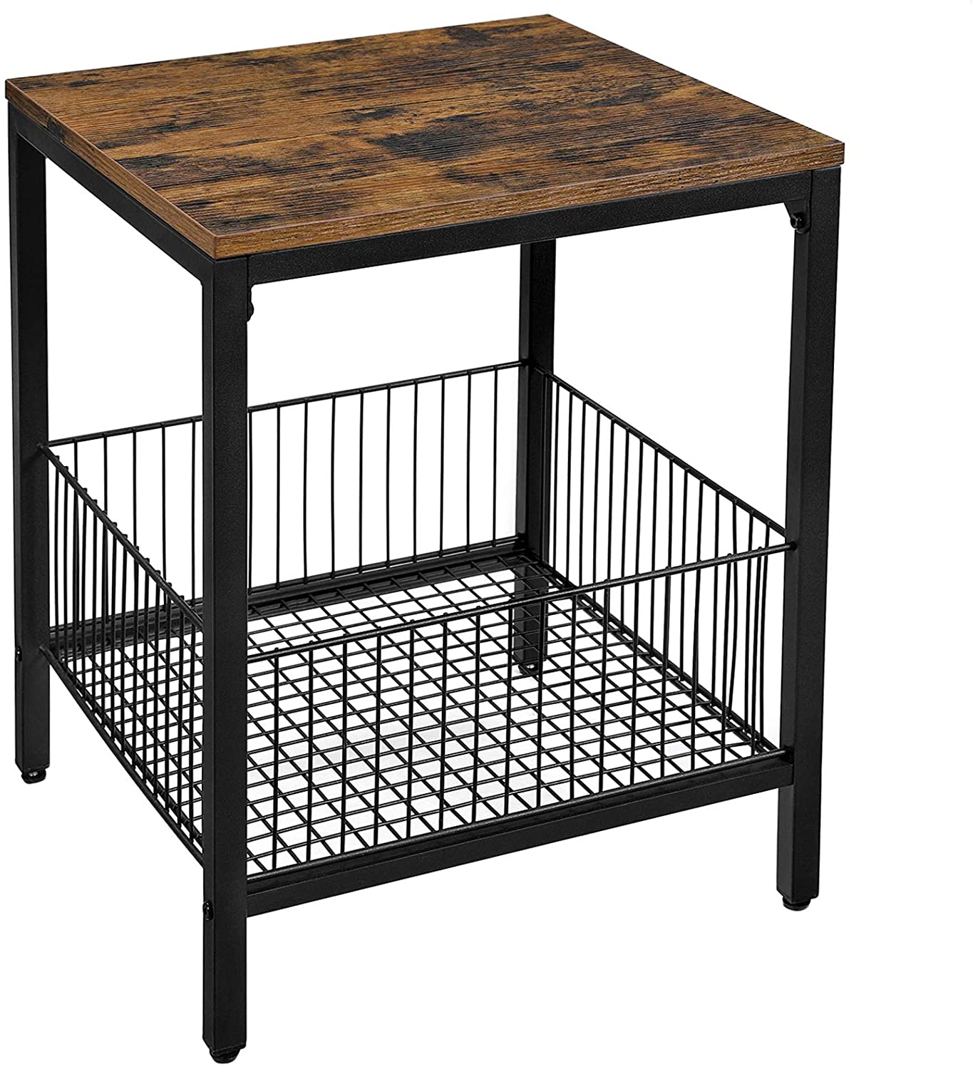 Enjoy fast, free nationwide shipping!  Family owned and operated, HawkinsWoodshop.com is your one stop shop for affordable furniture.  Shop HawkinsWoodshop.com for solid wood & metal modern, traditional, contemporary, industrial, custom, rustic, and farmhouse furniture including our Ryan Wire Basket Industrial Farmhouse Side Table.