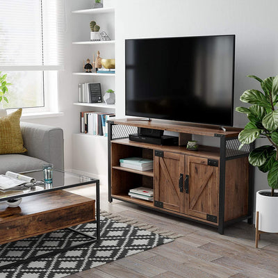 Enjoy fast, free nationwide shipping!  Family owned and operated, HawkinsWoodshop.com is your one stop shop for affordable furniture.  Shop HawkinsWoodshop.com for solid wood & metal modern, traditional, contemporary, industrial, custom, rustic, and farmhouse furniture including our Hazelnut Brown & Black TV Stand w/ Barn Doors.