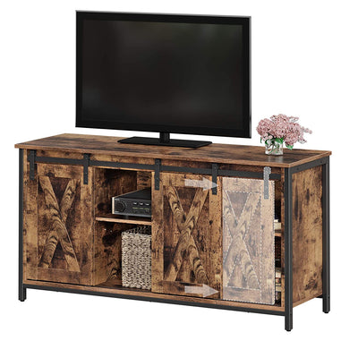 "Enjoy fast, free nationwide shipping!  Family owned and operated, HawkinsWoodshop.com is your one stop shop for affordable furniture.  Shop HawkinsWoodshop.com for solid wood & metal modern, traditional, contemporary, industrial, custom, rustic, and farmhouse furniture including our 47"" Ryan Sliding Barn Door TV Stand Console w/ Adjustable Storage Shelves."