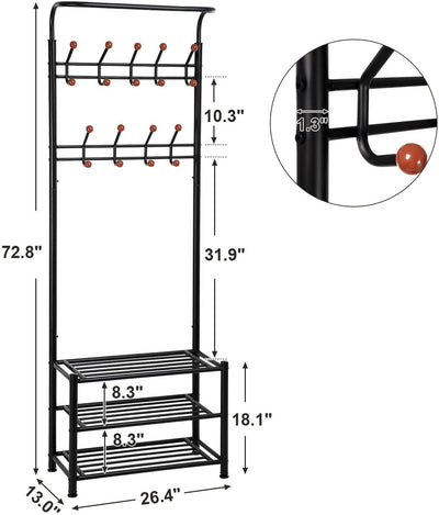 Enjoy fast, free nationwide shipping!  Family owned and operated, HawkinsWoodshop.com is your one stop shop for affordable furniture.  Shop HawkinsWoodshop.com for solid wood & metal modern, traditional, contemporary, industrial, custom, rustic, and farmhouse furniture including our 18 Hooks Entryway Coat Rack.