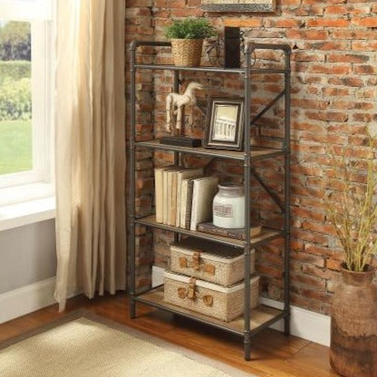 Shop hawkinswoodshop.com for discounted solid wood & metal modern, traditional, contemporary, custom & farmhouse furniture including our Raulph 4-Tier Industrial Farmhouse Bookshelf. Ask about our free nationwide freight delivery or assembly services today.