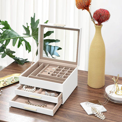 Enjoy fast, free nationwide shipping!  Family owned and operated, HawkinsWoodshop.com is your one stop shop for affordable furniture.  Shop HawkinsWoodshop.com for solid wood & metal modern, traditional, contemporary, industrial, custom, rustic, and farmhouse furniture including our 3 Layer Jewelry Box with Glass Lid.