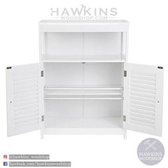 Shop hawkinswoodshop.com for discounted solid wood & metal modern, traditional, contemporary, industrial, custom & farmhouse furniture including our Wooden Bathroom Floor Cabinet.  Ask about our free nationwide freight delivery and low cost assembly services.