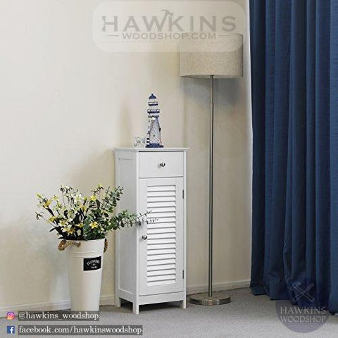 Shop hawkinswoodshop.com for discounted solid wood & metal modern, traditional, contemporary, custom & farmhouse furniture including our Wooden Bathroom Floor Cabinet Storage Organizer Set Free Standing Corner Unit with 1 drawer and 1 Cupboard Shutter Door. Ask about our free nationwide freight delivery and low cost assembly services.