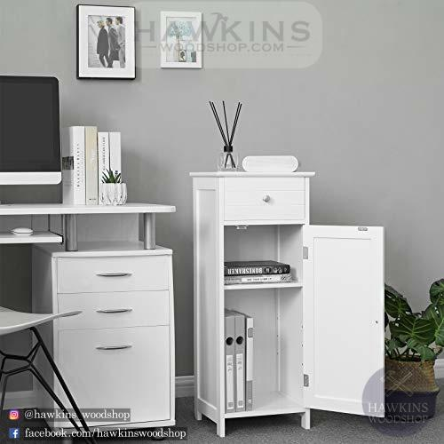 Enjoy fast, free nationwide shipping!  Family owned and operated, HawkinsWoodshop.com is your one stop shop for affordable furniture.  Shop HawkinsWoodshop.com for solid wood & metal modern, traditional, contemporary, industrial, custom, rustic, and farmhouse furniture including our White Floor Cabinet Storage with Drawer and Adjustable Shelf.